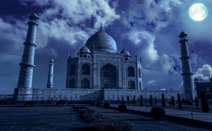 Taj Mahal during full moon