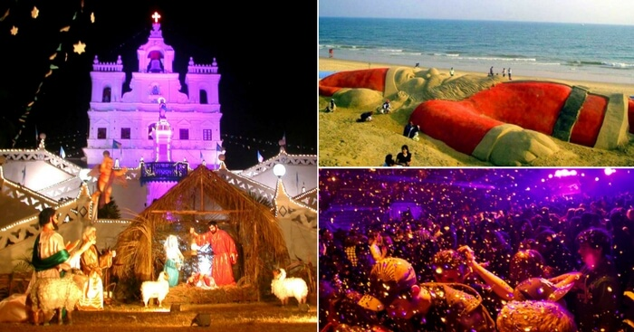 Images displaying Christmas celebration in Goa