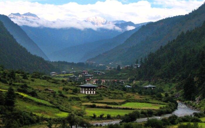 Landscape view of Haa Valley in Bhutan