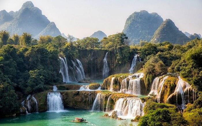 Ban Gioc Detian Falls Waterfalls