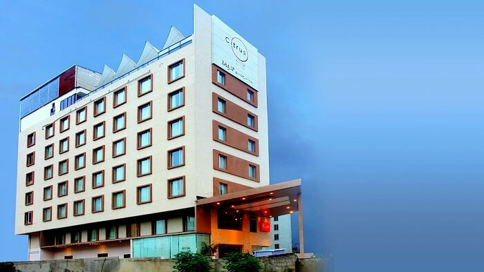 Side view of Citrus Hotel Panchgani