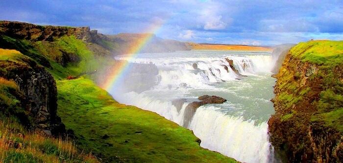 Gullfoss Falls Waterfalls