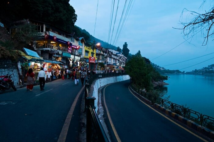 Mall Road in Nainital