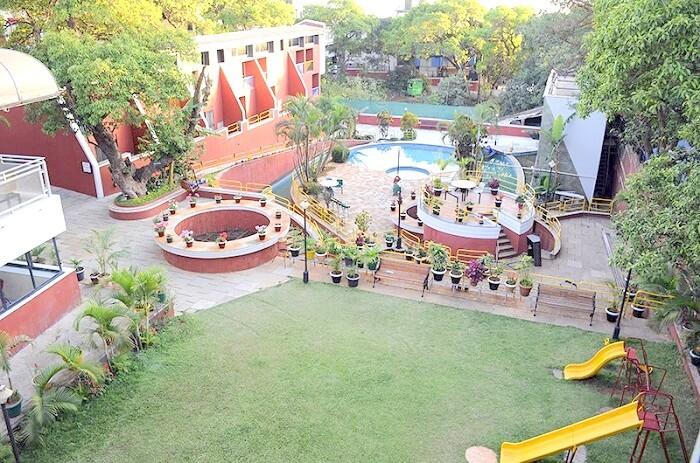 Aerial view of Hotel Panorama Panchgani