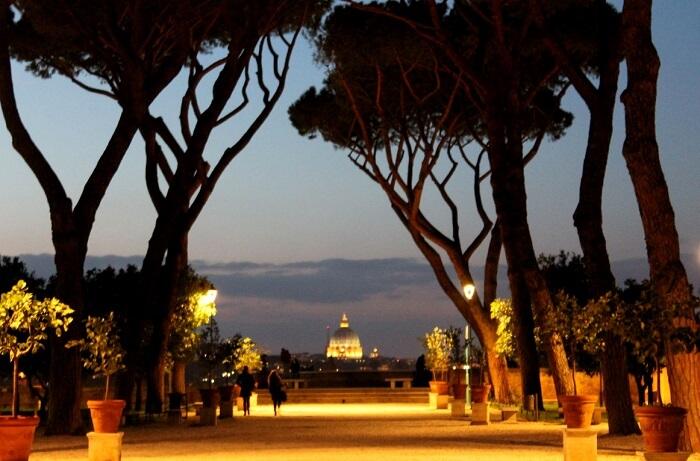 orange garden in rome