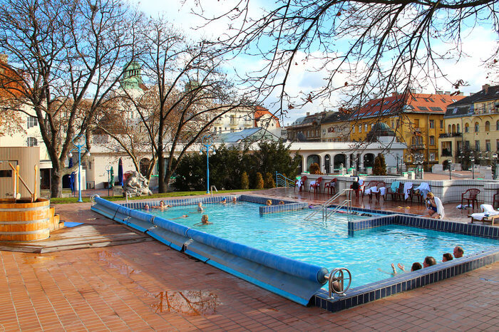 outdoor spa pool in budapest