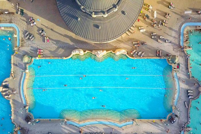Gellert Spa pool from above