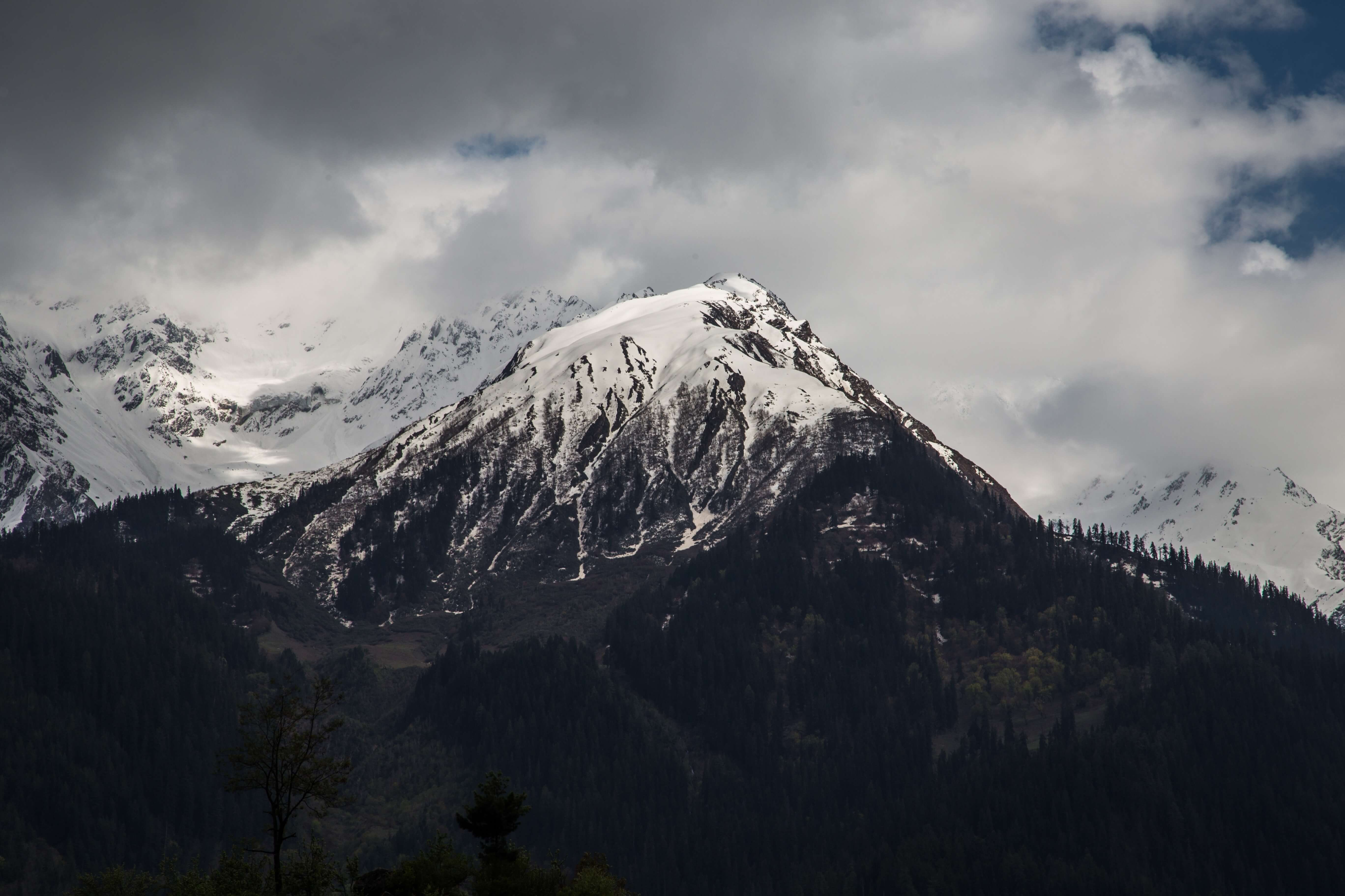 snowcovered mountain peak