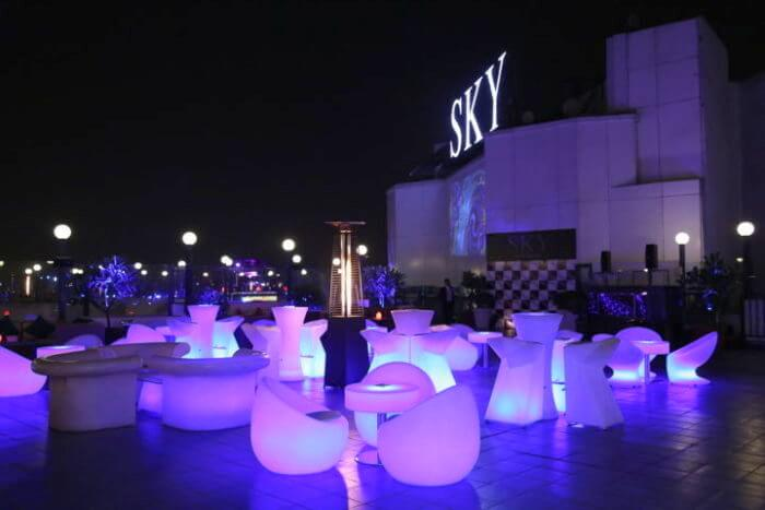 Rooftop At Sky Lounge New Delhi