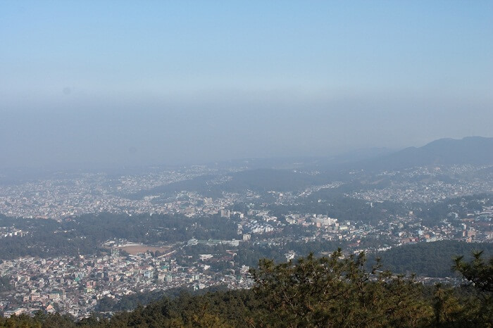 view from top of sohpetbneng peak