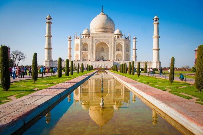 Taj Mahal during the day