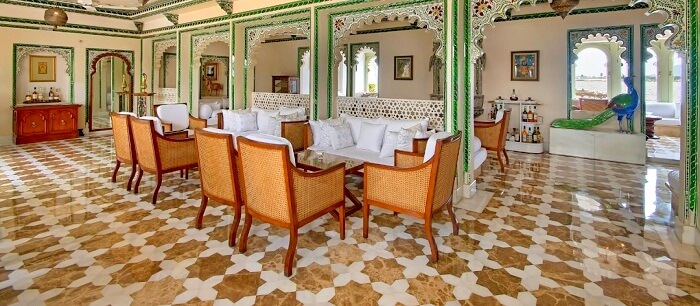 Dining options at Taj Lake Palace Udaipur