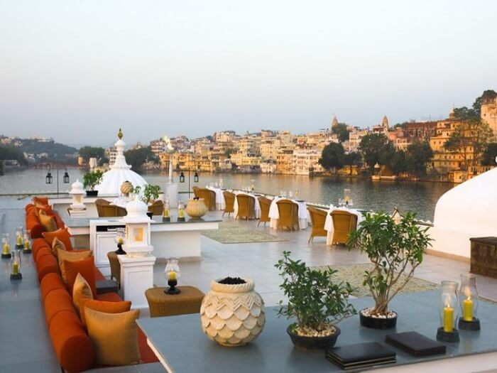 Bhairo rooftop restaurant at Taj Palace