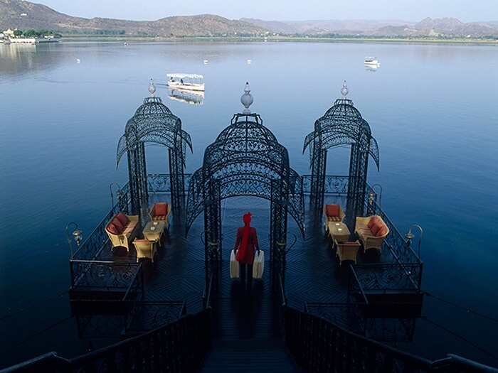 Royal welcome at Taj Lake Palace udaipur