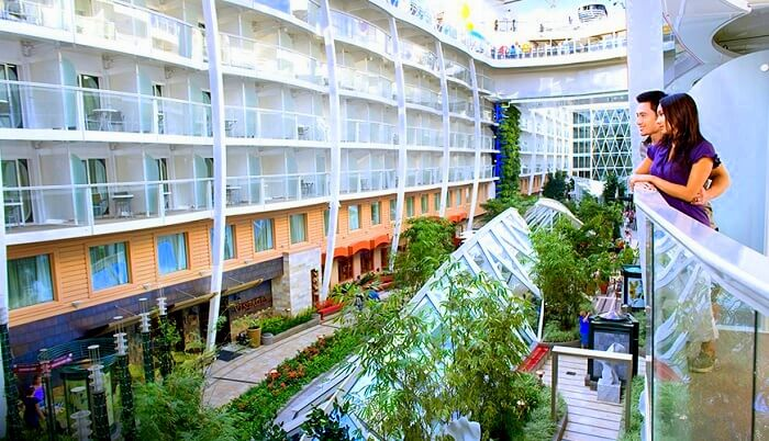 Inside view of the Symphony of the seas
