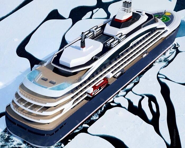 first icebreaker luxury cruise