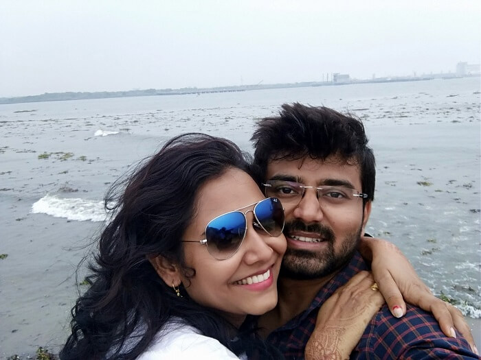 Romantic Couple on Kerala Honeymoon