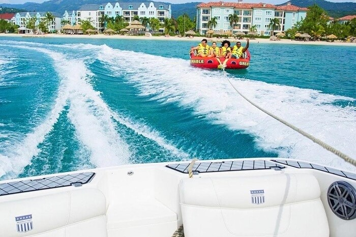 Couples tubing at Sandals Resort Jamaica
