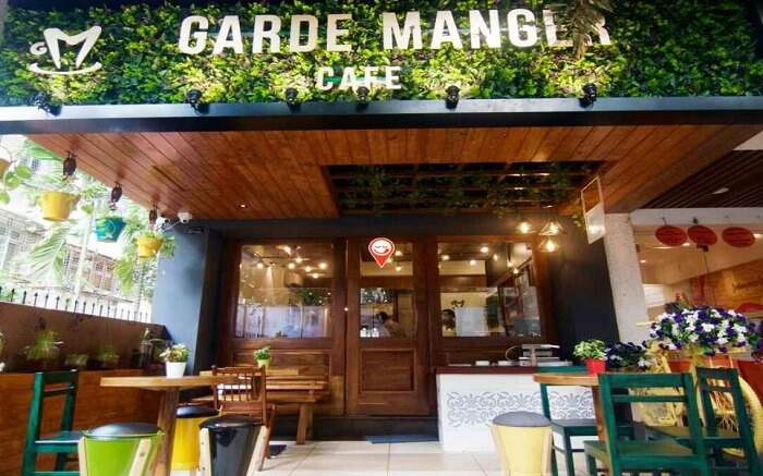 Beautiful entrance of Garde Manger Cafe in Ville Parle East