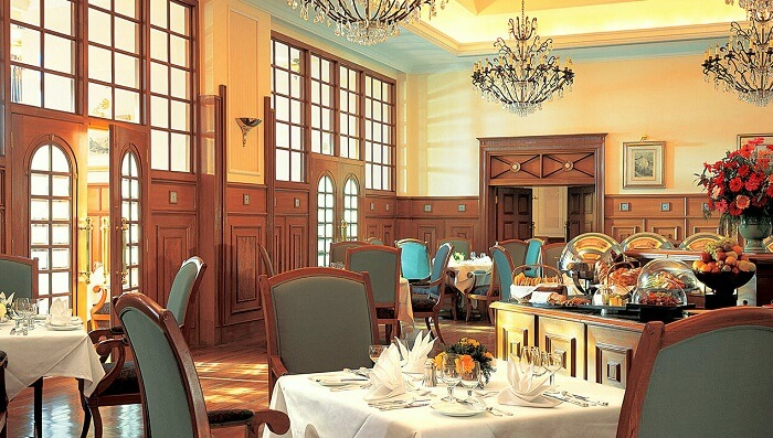 Dining hall of The Restaurant Cecil Shimla