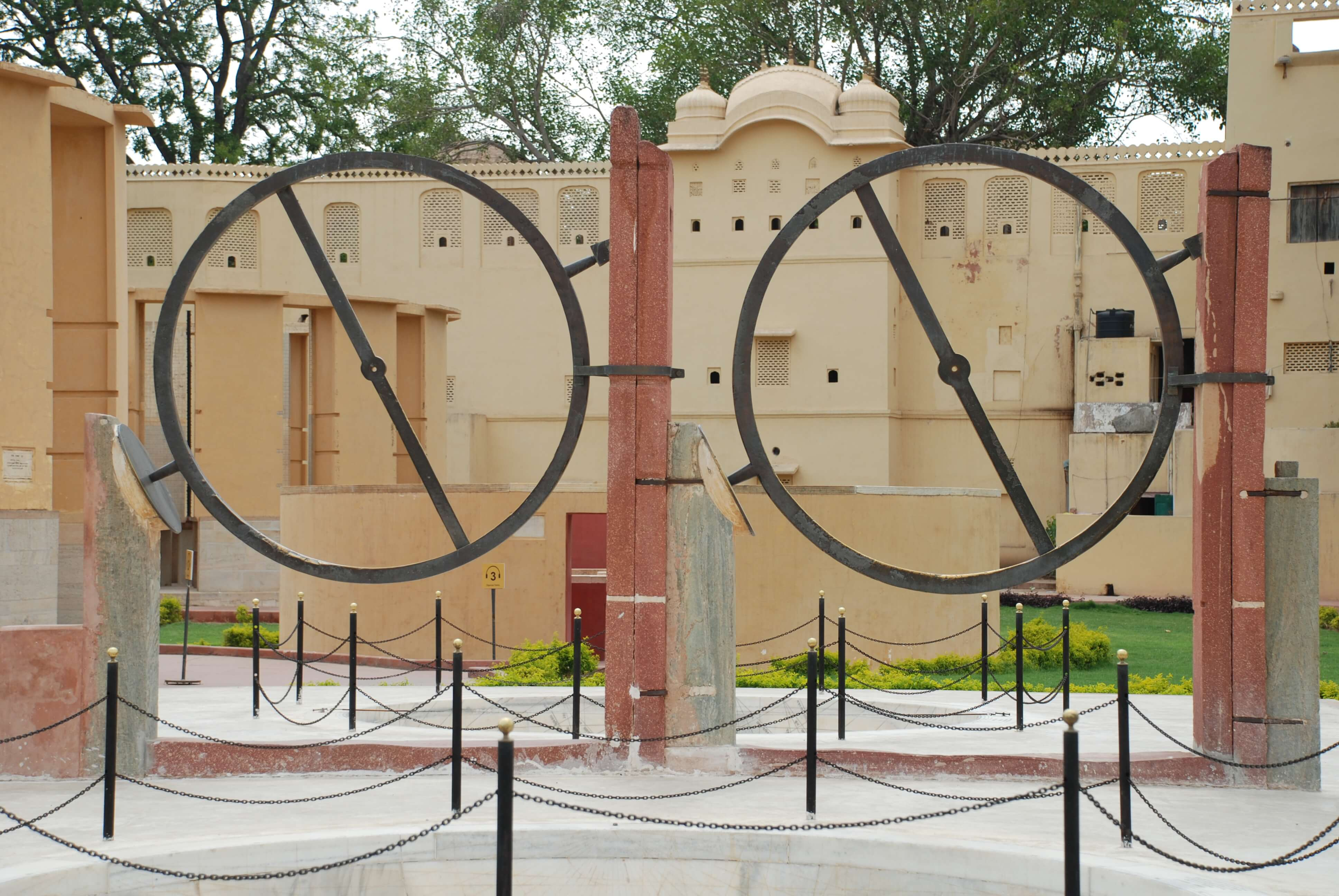 two circles look like clocks in jantar mantar