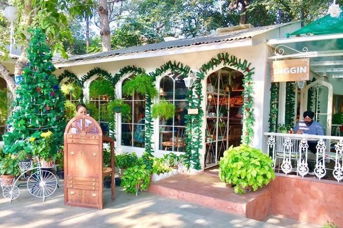 have a romantic date at Diggin, Chanakyapuri