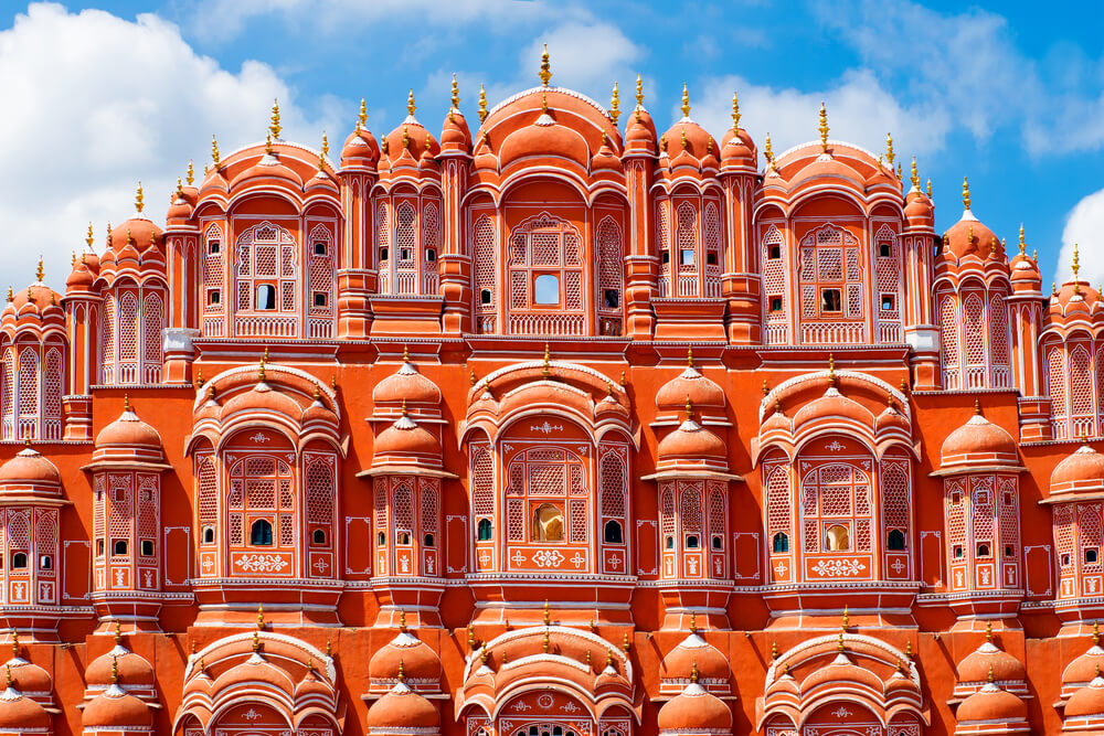 the gorgeous and red hawa mahal