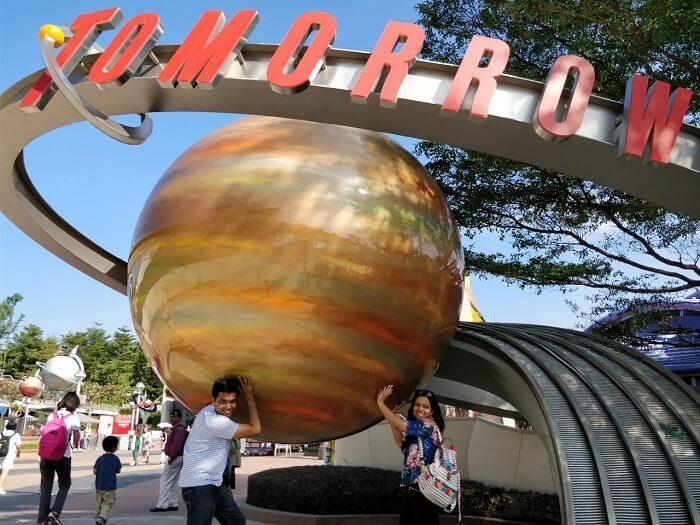 isha aggarwal hong kong family trip: tomorrowland exhibit