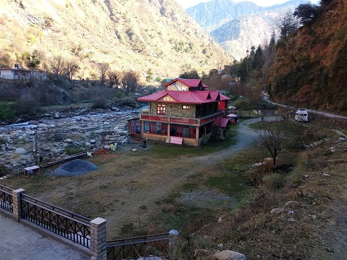 view of Trishla resort Tirthan