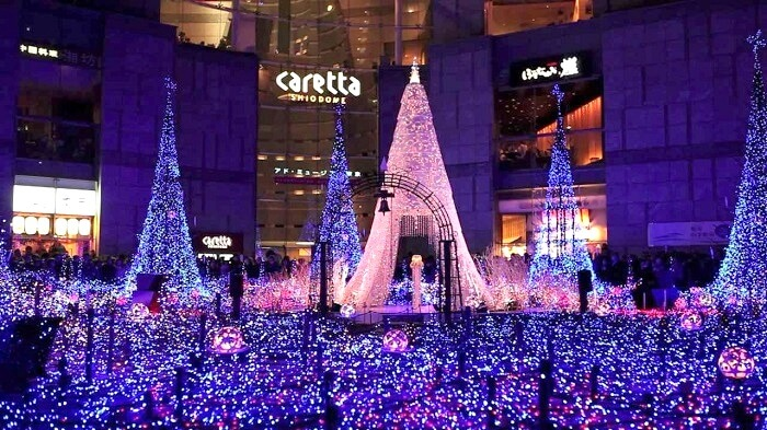 Ocean of lights Shiodome Japan