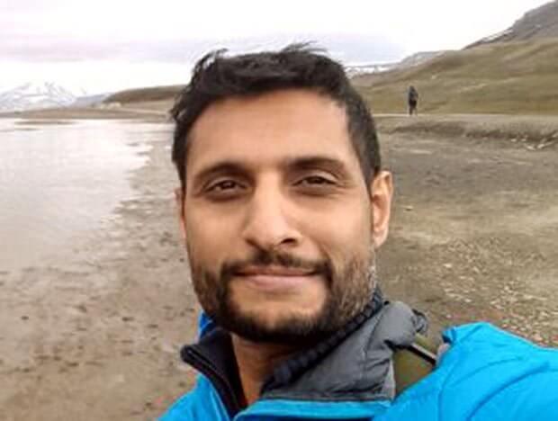 Raja Karthikeya in arctic selfie