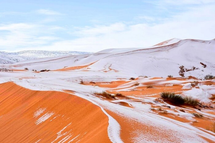 snowfall in sahara desert climate change or a miracle