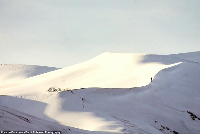 Snowfall near morocco