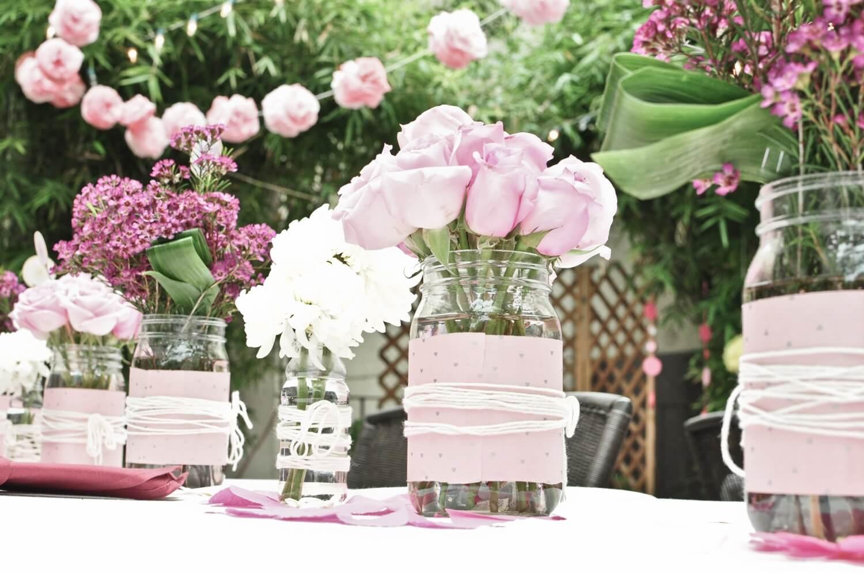 pink rose decoration