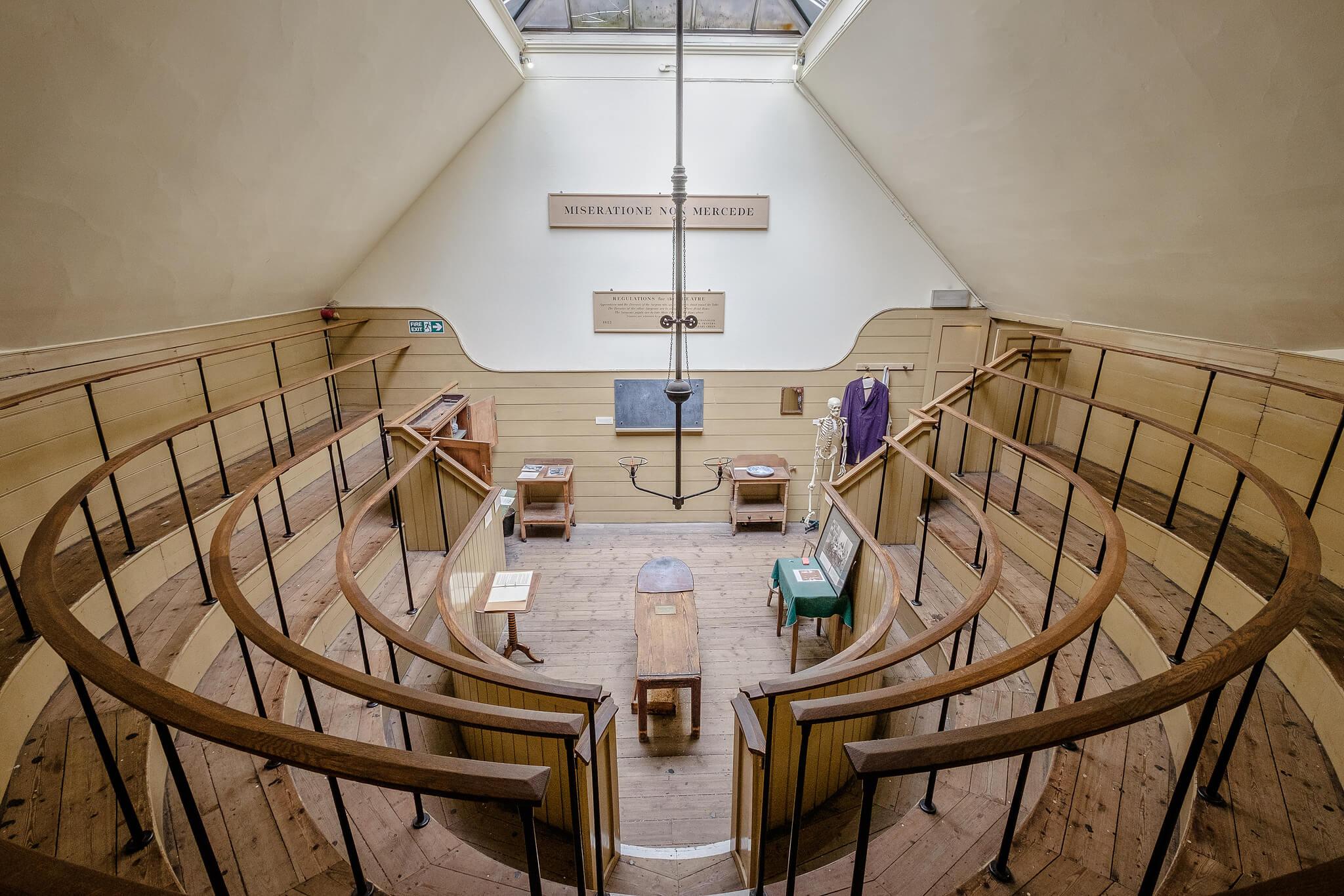 inside a wooden museum