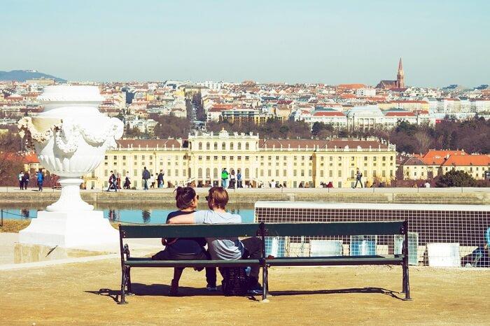 Couple In Vienna, Austria