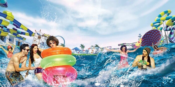 Adlabs Imagica holi party banner