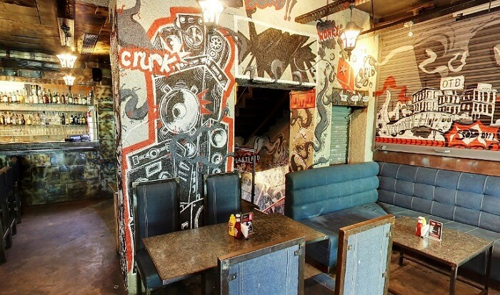 interior of boombox cafe cp