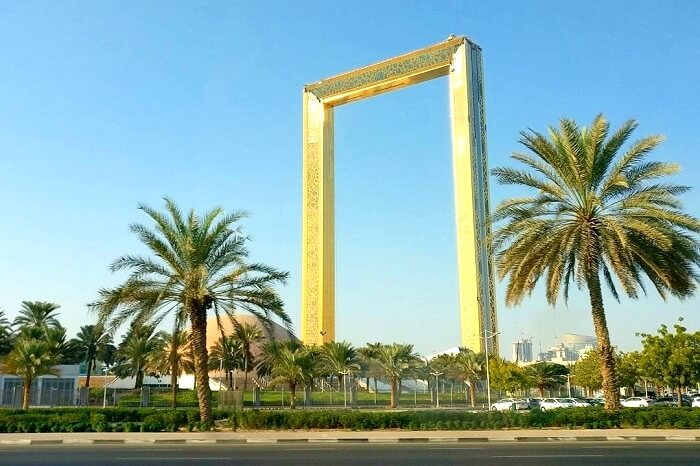 Side view of Dubai Frame