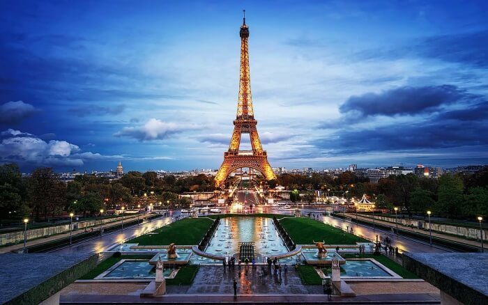 Eiffel Tower during evening