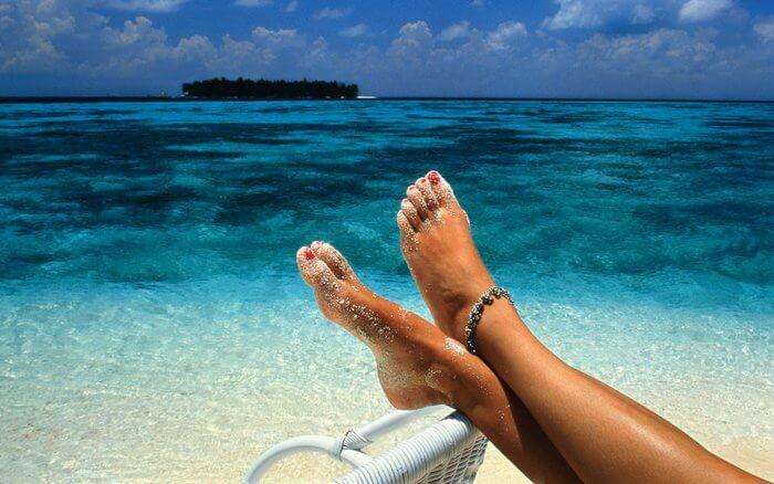 Vacationing at beach