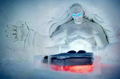 Game of thrones ice hotel in lapland, finland