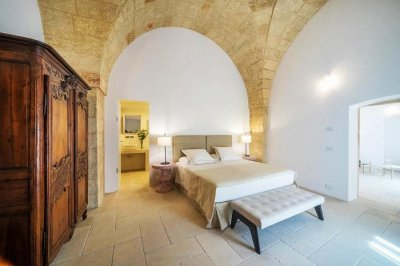 Inside the castle turned luxury hotel in Italy