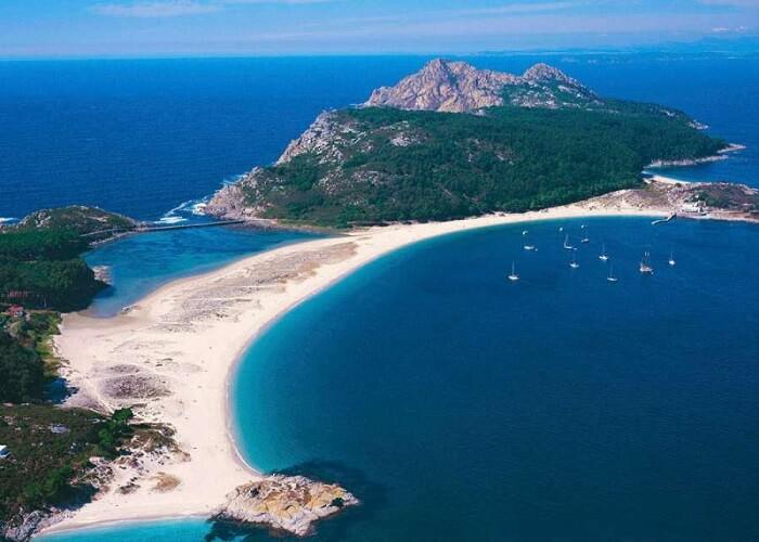 Cies Islands in Spain