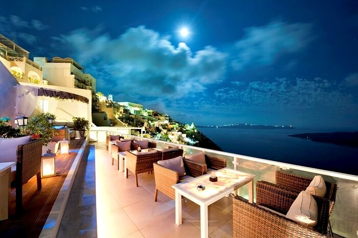 Crystal Bar in Santorini Greece
