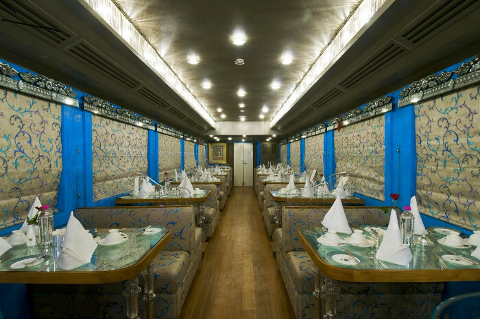 inside a luxurious train in india