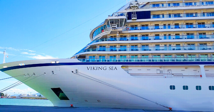 Viking cruise in ocean