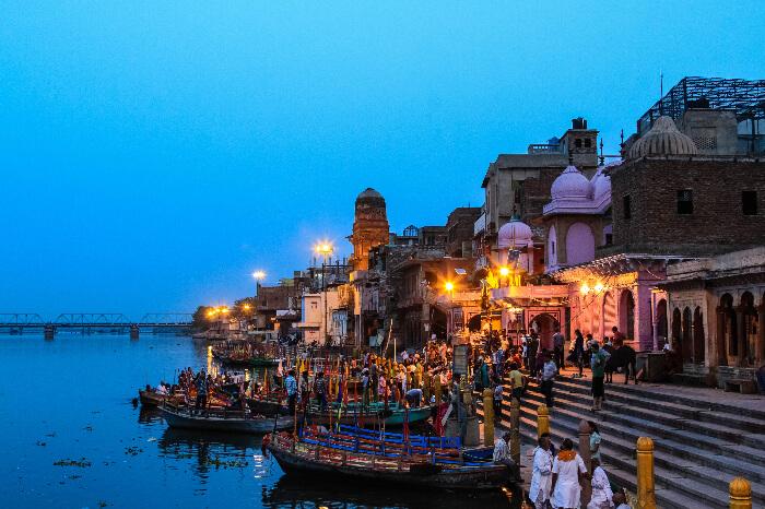 A ghat in Mathura