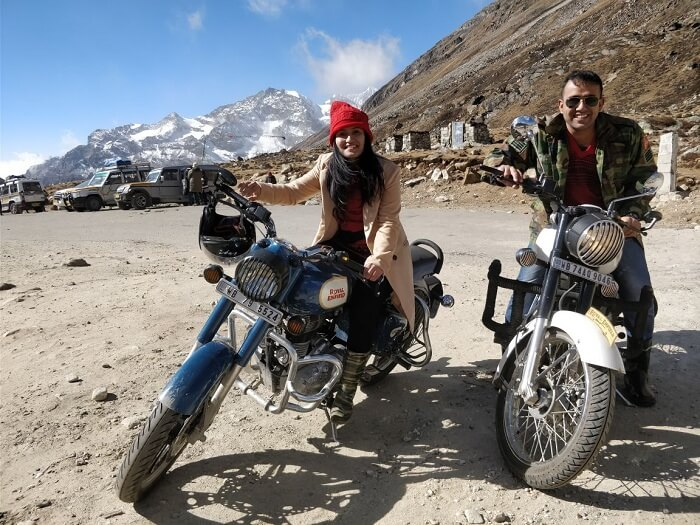biking to lachung