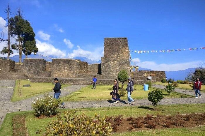 Shantanu northeast trip- rabdentse ruins